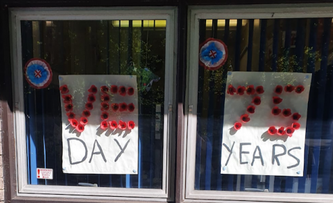 VE Day posters at Melton Primary School