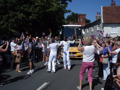 Olympic torch in Melton in 2012