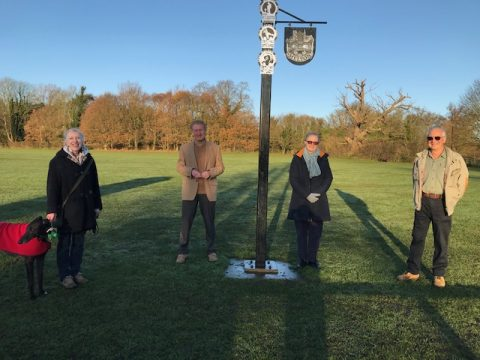 Members of the Melton Heritage Group and benefactors with the Beacon