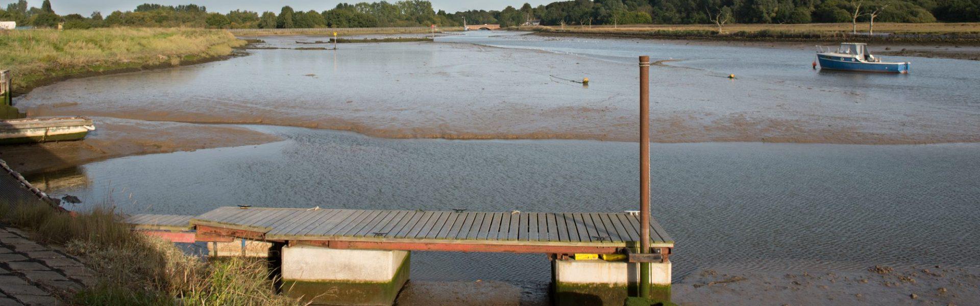 The river Deben looking towards Wilford Bridge