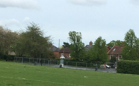 Car park at the playing field