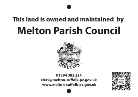 Proposed signage for new land