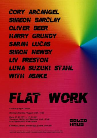Flat Work Art Exhibition poster