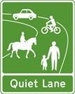 Quiet Lanes sign