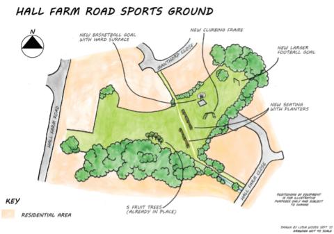 Hall Farm Road map